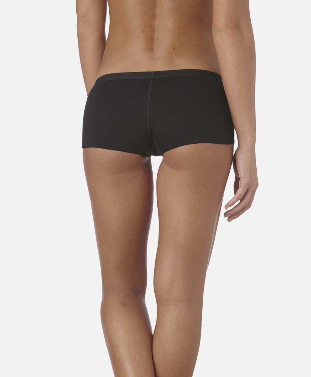 Women's Super Soft Cotton Boy Shorts Underwear | PACT Organic