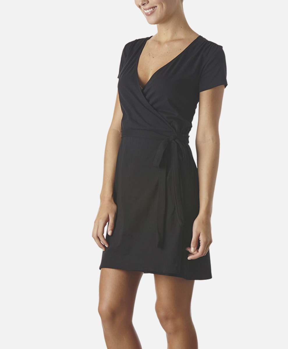 Women's Super Soft Wrap Dress | PACT Organic