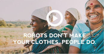 robots dont make your clothes, people do