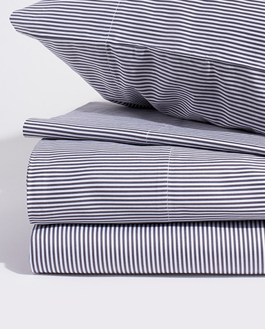 room service bedding in cloud stripe