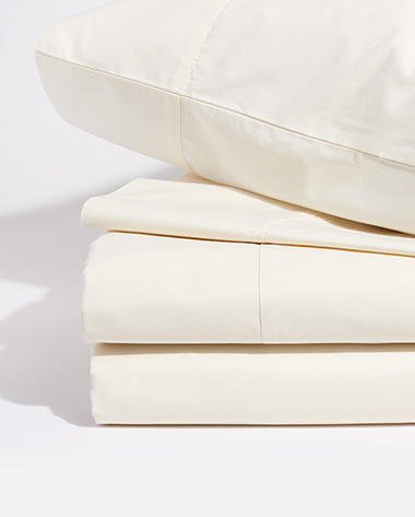 limited edition percale bedding in ivory