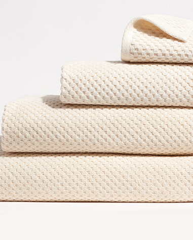 waffle towel collection in undyed