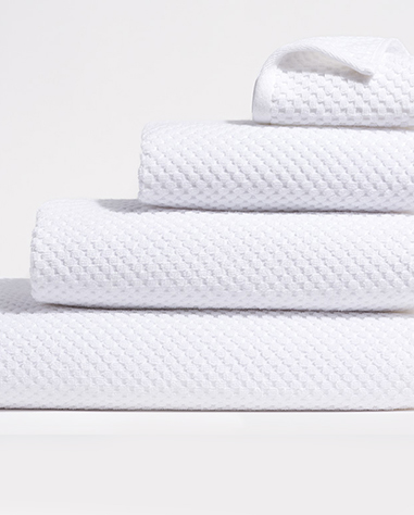 waffle towel collection in white