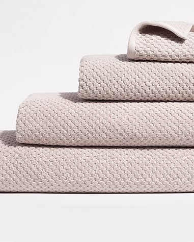 waffle towel collection in cloud