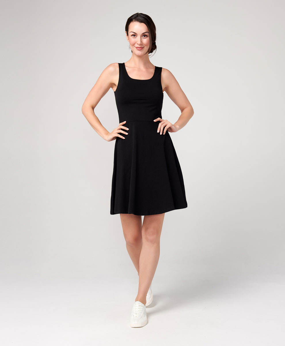 Women S Sleeveless Fit Amp Flare Dress Made With Organic
