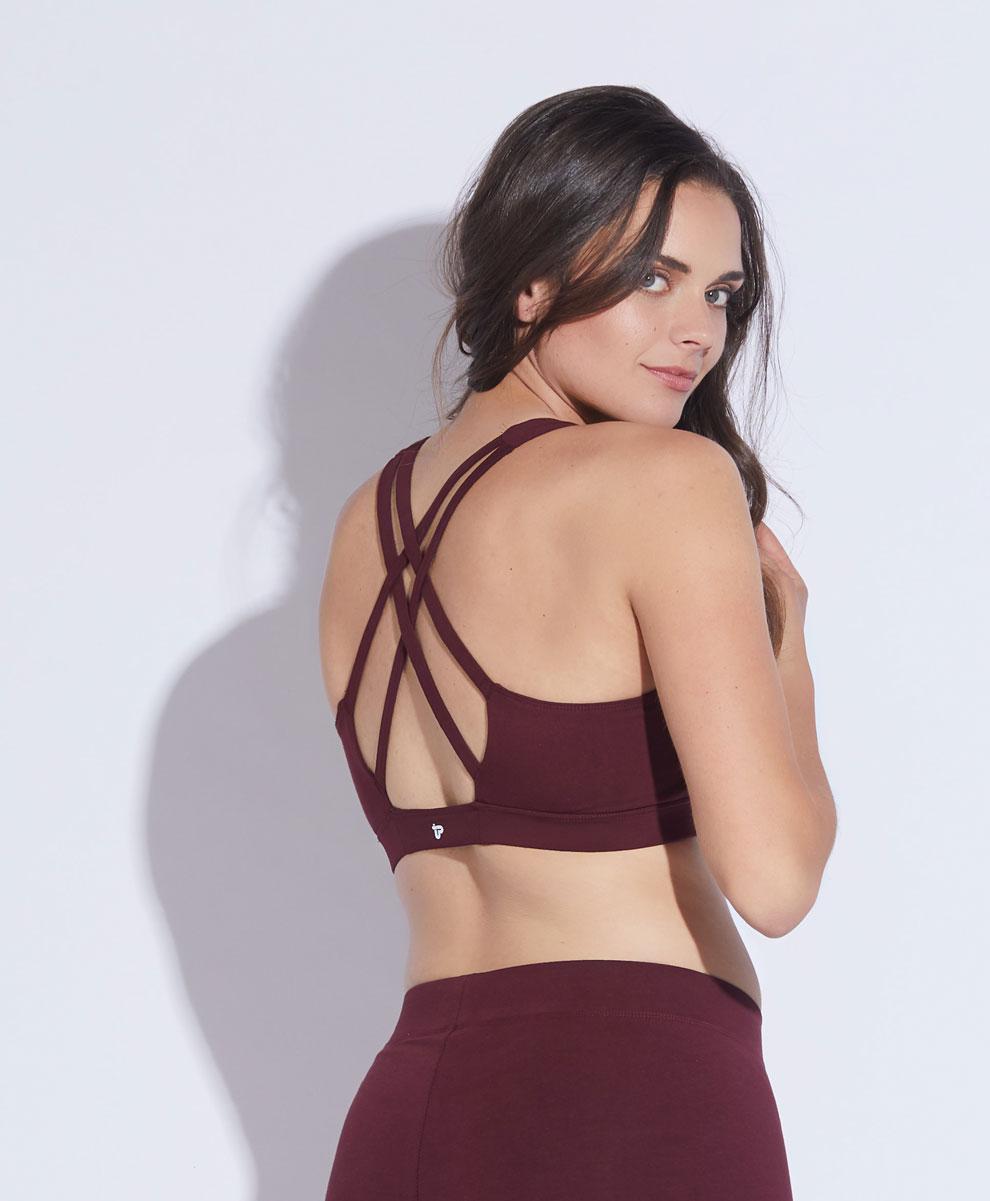 e4f3e745062f5 Women s Strappy-Back Sports Bra made with Organic Cotton