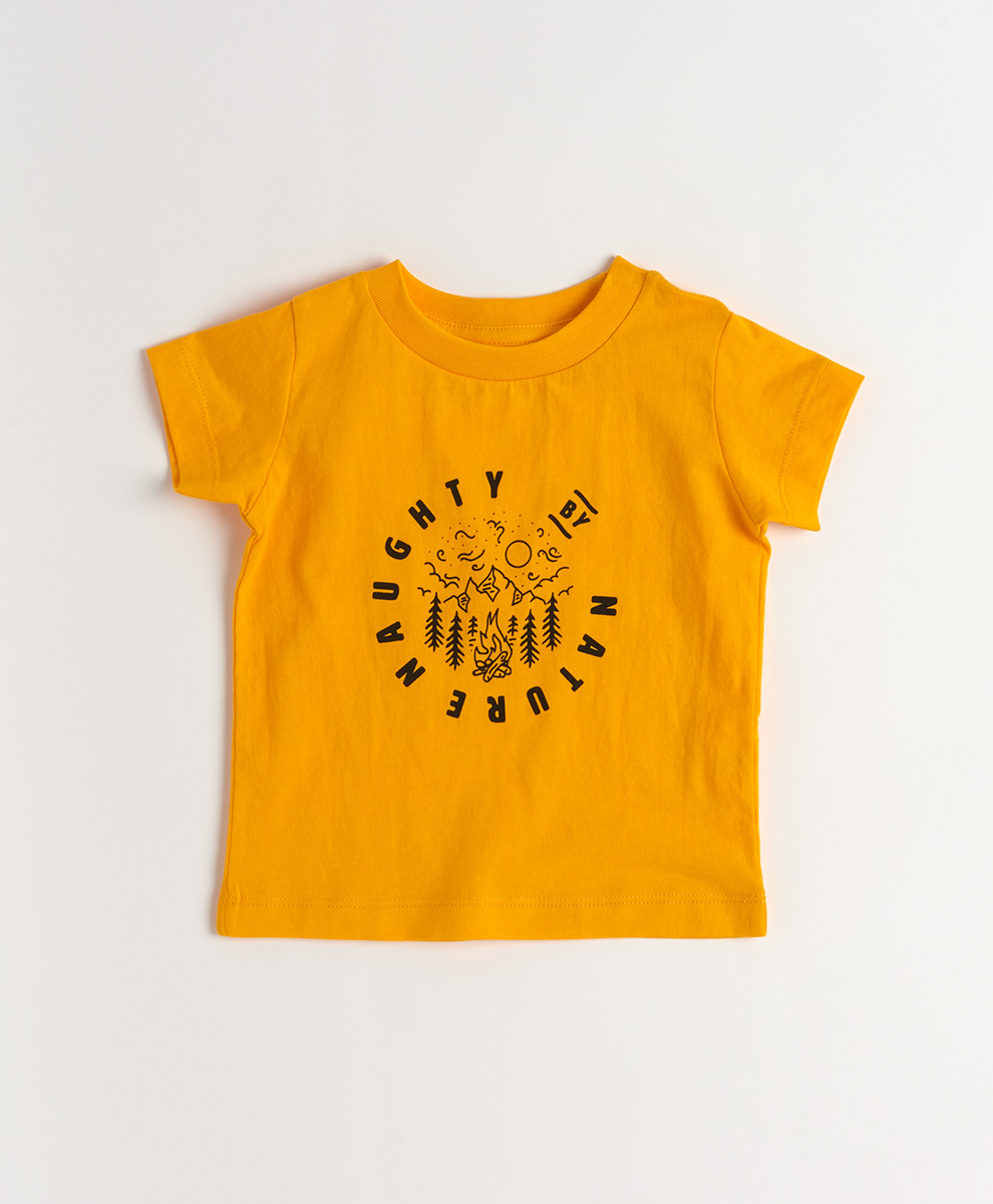 PACT Baby's Naughty by Nature Short Sleeve Graphic Tee 6-9 Months