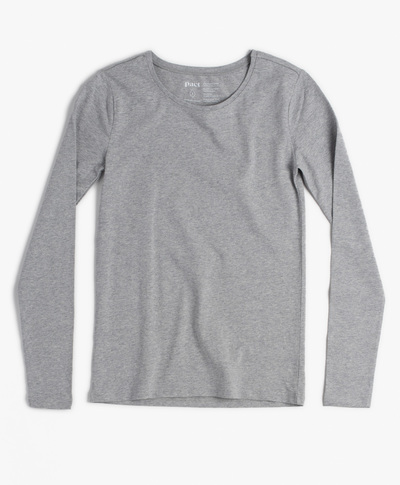 Grey sretch fit long sleeve tee - Pact