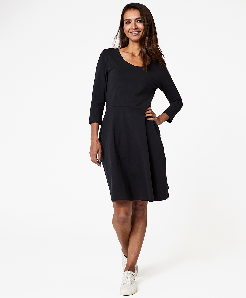 Women S Three Quarter Sleeve Fit And Flare Dress Made With Organic Cotton Pact Shop uniqlo.com for the latest essentials for women, men, kids & babies. pact women s mallard heather fit flare 3 4 sleeve dress xs
